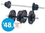 50kg Barbell and Dumbbell Set $48 - BIGW