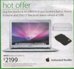 "Macbook Air (old model) with bonus Airport Extreme and STM 13"" MacBook Sleeve $2199 at Myer"