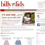 SALE - UP to 60% OFF @Billy Lids - Online Store - Fashion & Products - Babies, Toddlers & Kids