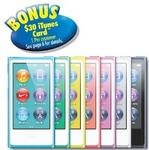 Apple iPod Nano 7th Gen 16GB - $149 in-Store from The Good Guys with Free $30 iTunes Card