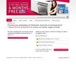 6 Months Free Finish with Purchase of LG Dishwasher