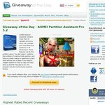 Free AOMEI Partition Assistant Pro 5.2 from Giveaway of The Day