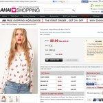 Lip Print Long-Sleeved Shirt $9.99 Shipped Ahaishopping.com
