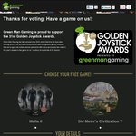 Free Game from GMG (Civilisation V or Mafia II) if You Vote in The Golden Joysticks