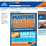 Free Diary and Trade Discount for February at Masters
