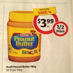 HALF PRICE Kraft Peanut Butter 780g $3.99 at Coles (Save $4.00) - Starts 19/02