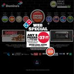 Domino's: Any 3 Pizzas + Garlic Bread + 1.25l Drink $22.95 Pick up $29.95 Delivered