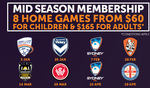 Perth Glory FC - 8 Games for as Low as $60 for Children and $165 for Adults