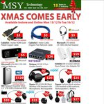 MSY Two Day Deals - (Mon-Tues) MS Lifecam VX500 $5, Wireless Headsets from $20, $3 5M Ethernet