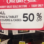 50% off iPad and Tablet Cases at Big W. Today Only