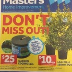 $1 Pots $10 Lilly Pilly Plants, $25 Garden Edging and More @ Masters Home Improvement