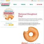 Free Original Glazed Doughnut @ Krispy Kreme on Friday, 5th June