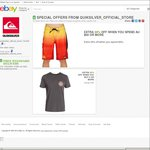 Quiksilver eBay 20% off + Additional 20% off (NRL & Spring Gear) + Free shipping