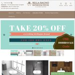 20% off Everything BelBagno Brand Bathroom Ware Online & In Store