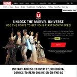 1 Free Month of Marvel Unlimited (All Marvel Comics Older than 6mths), $0, Marvel.com