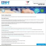 $60 First Aid Course [MELBOURNE] @ Edway Training