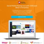 Social Media Posting Tool with 1500 Content Ideas for USD $3 (~AUD $4) (75% off) @ Promo Republic