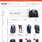 """Myer - $100 off When You Purchase a Suit Jacket & Suit Pant: E.g. A """"New England"""" Suit Jacket & Pant Together: $108.60"""