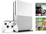 Xbox One S 1TB Console Bundle with FIFA17 and Rainbow Six Siege Download Codes @ Big W $389
