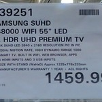 """Samsung Series 8 UA55KS8000 55"""" (SUHD/HDR/LED/200hz) Smart TV $1459.99 @ Costco Docklands VIC (Membership Required)"""