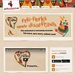 Free Large Side (Valued at $5.95) with Any Main Item Purchase (from $6.95) @ Nando's (Peri Perks) - Excludes WA/QLD