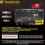 Gamdias Mechanical Keyboard + Mouse + Mousepad - $49 Delivered Only @ MSY (15/2 1-5pm AEDT)