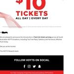 Hoyts Flat $10 Ticket Pricing for SA Cinemas