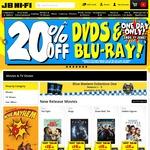 20% off DVDs & Blu-Ray @ JB Hi-Fi