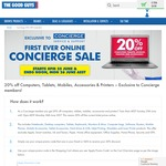 20% off Computers, Tablets, Mobiles, Accessories and Printers @ The Good Guys (Concierge Members)