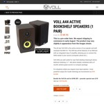 "Preorder: Voll A44 Active Speakers $144.95 (Save $25), Voll S6 6.5"" Subwoofer $104.95 (Save $15), Early-Mid August Delivery"