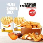 [WA] $9.95 for 18 Nuggets, 2 Medium Thick Cut Chips with 3 Dipping Sauces @ Hungry Jack's