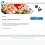 AmEx - Sushi Hub: Spend $20, Get $10 Back, up to 2 Times