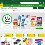 Woolworths Rewards Get 5x Points This Week + Free Online Delivery [Min $50]