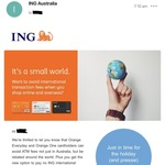 No International Txn Fees + Fee Free ATM Withdrawals Worldwide for ING Orange Everyday and Orange One with $1000 Deposit/mth