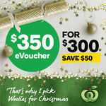 Woolworths Online $180/$240/$350 eVoucher for $150/$200/$300 - Save $30/$40/$50 @ Woolworths on eBay