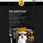 [QLD] Free Burrito 11AM-8PM, Thursday 10/5 @ Guzman y Gomez (Bowen Hills)