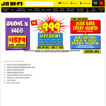 iPhone X 64GB $999 with $49pm (12 Months Plan) BYO Sim Plan (Must Port to Telstra) @ JB Hi-Fi (6/6, In-Store Only)