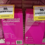 [VIC] Pink PC Overhead Headphones $0.50 (Was $8) @ Officeworks QV