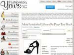 Miss Bombshell Peep Toe Shoes WERE $299, NOW$139! Shipping to Australia Express Post.