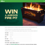 Win a Jameson Fire Pit Worth $400 from The Bottle-O