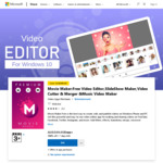$0: Movie Maker: Free Video Editor, Slide Show Maker, Video Cutter & Merger & Music Video Maker (Save $599.95) @ Microsoft Store
