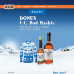 Free Bad Sweater Rashie (Worth $59.95) + $9.95 Delivery with over $20 Spend of Canadian Club at BWS