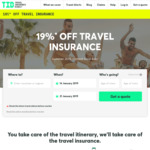 19% off Travel Insurance @ Travel Insurance Direct