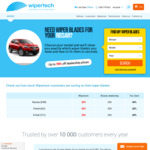 Wipertech Aeroflex Wiper Blades for Nissan Cars (Front Pair) $25 Delivered - Wipertech.com.au