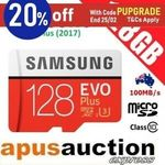 Samsung 128GB Evo Plus Micro SD Card $26.36 + Delivery (Free with eBay Plus) @ Apusauction eBay
