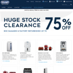 DeLonghi Clearance Sale, up to 70% off Box Damaged Items, Ovens, Cooktops, Dishwashers, Heaters, Air Condition, Dehumidifiers...