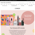 Free Gift with $60 Spend on Clinique Products @ David Jones