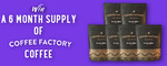 Win a 6 Month Supply of Coffee Factory Coffee Worth $100 from The Coffee Factory