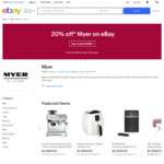 "20% off Myer @ eBay (Breville Grinder $152, JBL Free X Headphones $95, Crumpler Mantra Backpack $139, Sony 65"" 9500G TV $2495)"