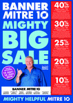 [SA] Weekend Sale - 40% off $50, 30% off $100, 25% off $150, 20% off $200, 10% off $300 @ Banner Mitre 10